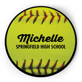 Softball Circle Plaque - Ball With Text