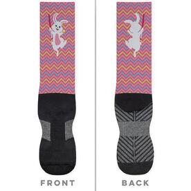 Softball Printed Mid-Calf Socks - Softball Easter Bunny