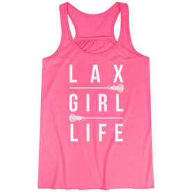 Girls Lacrosse Flowy Racerback Tank Top - Lax Girl Life