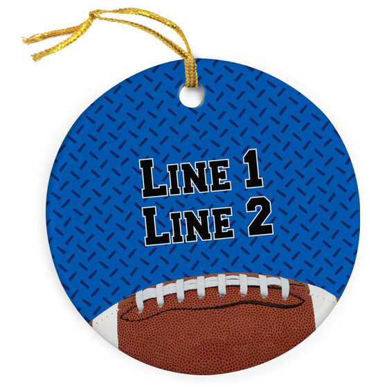 Football Porcelain Ornament With Iron Background