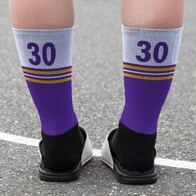 Mid-Calf Socks - Oconomowoc Lacrosse Logo Solid