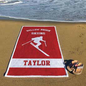 Skiing Premium Beach Towel - Personalized Ski Team