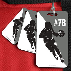 Basketball Bag/Luggage Tag Personalized 2 Color Female Player