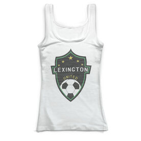 Soccer Vintage Fitted Tank Top - Your Logo