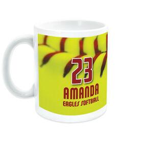 Softball Coffee Mug Personalized Stitches