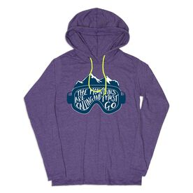 Women's Skiing Lightweight Hoodie - The Mountains Are Calling