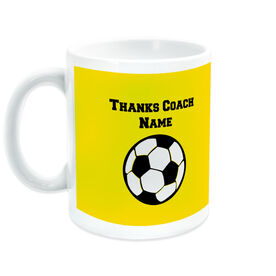 Soccer Coffee Mug Thanks Coach Ball Graphic With Team Roster