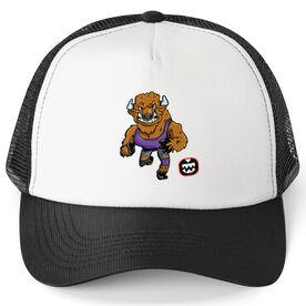 Seams Wild Wrestling Trucker Hat - Herdya