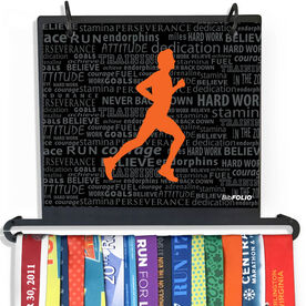 BibFOLIO+™ Race Bib and Medal Display Running Inspiration - Male
