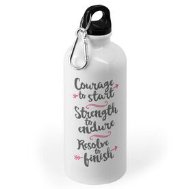 Running 20 oz. Stainless Steel Water Bottle - Courage To Start