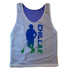 Guys Lacrosse Pinnie - Chillax'n With Word