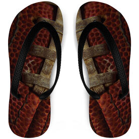 Football Flip Flops Pigskin
