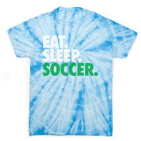 Soccer Short Sleeve T-Shirt - Eat. Sleep. soccer Tie Dye