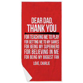 Baseball Premium Beach Towel - Dear Dad