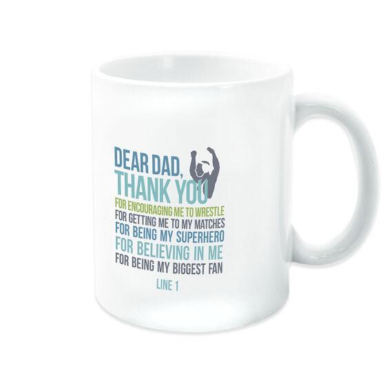 Wrestling Coffee Mug Dear Dad