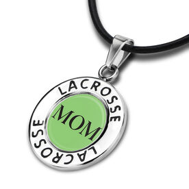 Lacrosse Circle Necklace Mom