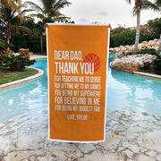 Volleyball Premium Beach Towel - Dear Dad