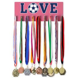 Soccer Hooked on Medals Hanger - Soccer Love
