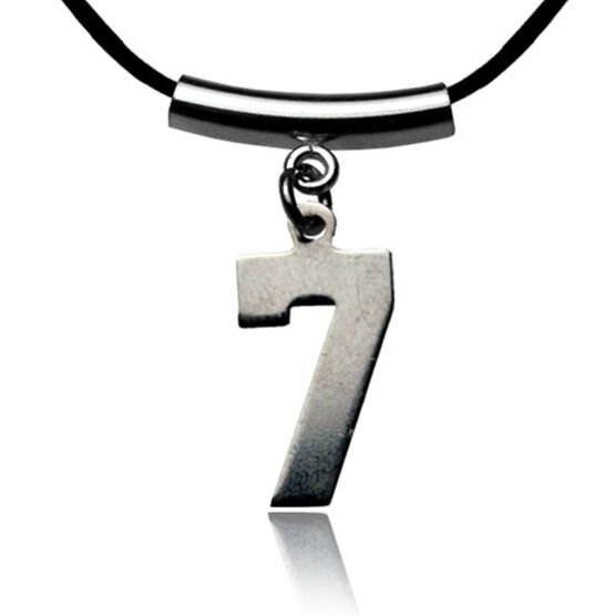 Sterling Silver Jersey Number Necklace with a Single Number (tube spacer)