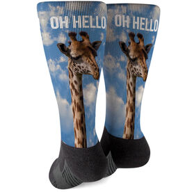 Running Printed Mid-Calf Socks - Oh Hello Giraffe