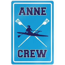 "Crew 18"" X 12"" Aluminum Room Sign Personalized Crew Sign Girl"