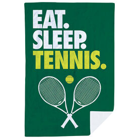 Tennis Premium Blanket - Eat. Sleep. Tennis. Vertical