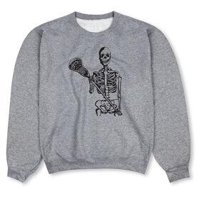 Guys Lacrosse Crew Neck Sweatshirt - Skeleton (Black)