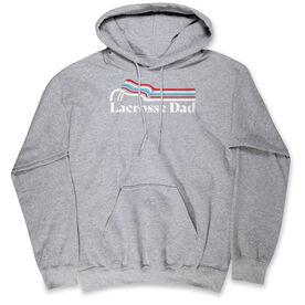 Guys Lacrosse Hooded Sweatshirt - Lacrosse Dad Sticks