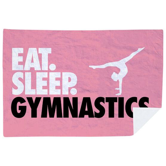 Gymnastics Premium Blanket - Eat. Sleep. Gymnastics. Horizontal