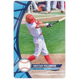 "Baseball 18"" X 12"" Aluminum Room Sign - Player Photo"