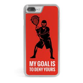Guys Lacrosse iPhone® Case - My Goal Is To Deny Yours Goalie