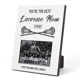 Guys Lacrosse Photo Frame - You're The Best Mom Ever