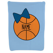 Basketball Baby Blanket - Personalized Basketball Bow