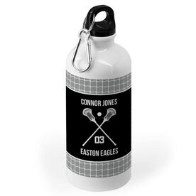 Guys Lacrosse 20 oz. Stainless Steel Water Bottle - Team with Crossed Sticks
