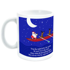 Crew Coffee Mug Rowing Reindeer and Santa