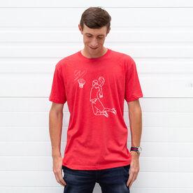 Basketball Short Sleeve T-Shirt - Basketball Player Sketch