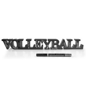 Volleyball Wood Words Ready For Team To Autograph