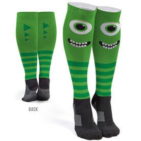 Printed Knee-High Socks - Monster Eyes