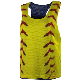 Softball Racerback Pinnie - Softball Stitches