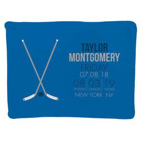 Hockey Baby Blanket - Birth Announcement