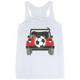 Soccer Flowy Racerback Tank Top - Soccer Cruiser