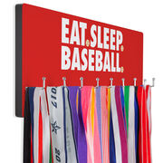 Baseball Hooked on Medals Hanger - Eat Sleep Baseball