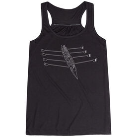 Crew Flowy Racerback Tank Top - Crew Row Team Sketch
