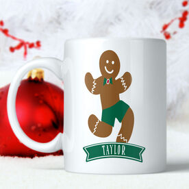 Gingerbread Man with Banner Personalized Mug