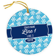 Cheer Porcelain Ornament Personalized Thanks Coach with Megaphone Pattern