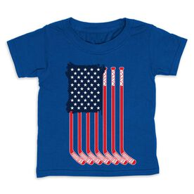 Hockey Toddler Short Sleeve Tee - American Flag