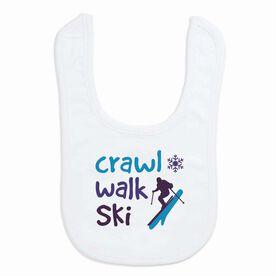 Skiing Baby Bib - Crawl Walk Ski