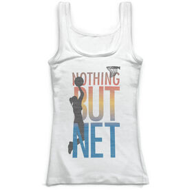 Basketball Vintage Fitted Tank Top - Nothing But Net Girl