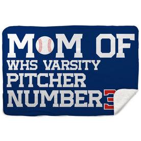 Baseball Sherpa Fleece Blanket - Personalized Baseball Mom
