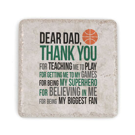 Basketball Stone Coaster - Dear Dad (Autograph)